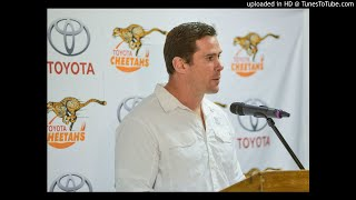Free State Cheetahs coach Rory Duncan and captain Francois Venter after WP win