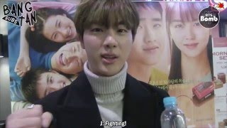 [ENG] 160304 [BANGTAN BOMB] Movie 'Pure Love' VIP preview with Jin