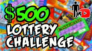 $500 Lottery Ticket Challenge  - Man Vs Youtube