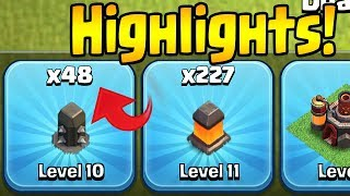 SO CLOSE!  48 Walls to Go HIGHLIGHTS!  Th10 Farm to Max | Clash of Clans