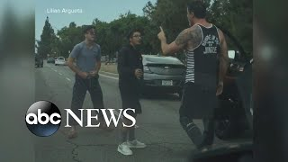 Angry driver backs down from road rage incident