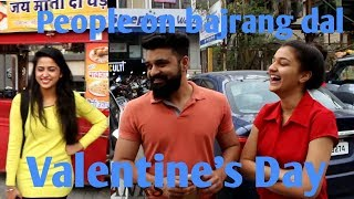 Girls opnely talk about bajrang dal's actions on valentines day...