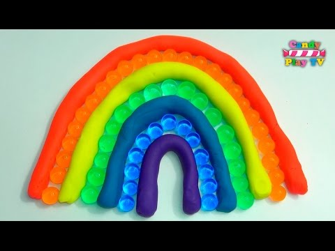 Learn Colors with Play-Doh Rainbow and ORBEEZ | Learn Colours with Paly-Doh and Jelly Balls