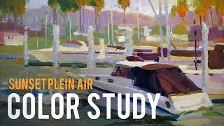 Color Study - Sunset Plein Air