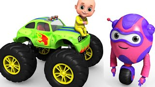 Kids Toys  - Monster Truck Racing for Kids   Surprise Egg Toys  from Jugnu kids