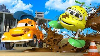 Bebé Hector - El lavado de Autos de Tom La Grúa 🛀 Dibujos animados de carros