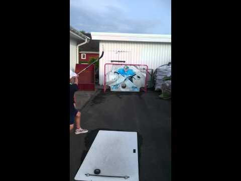 Hockey skott i kryss
