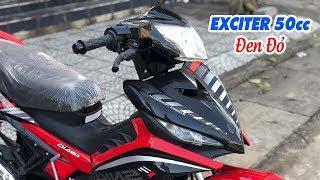 Exciter 50cc Đen Đỏ ▶ Cận cảnh