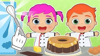BABY ALEX AND LILY 🍮 Learn How to Make Chocolate Crème Caramel | Cartoons for Kids