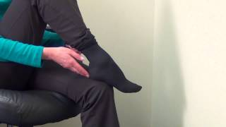 How to put on a Dr. Scholl's Compression Sock