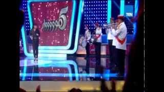 برنامج 5 مواه - الفنانة فيفى عبده تبدأ الحلقة بمنافسة قوية بين فرقة حصبله التسعينات و حصبلة 2015