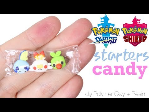 How to DIY Pokemon Gen 8 Starters Pokemon Sword Shield Candy Polymer Clay/Resin Tutorial
