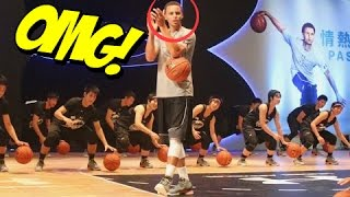 STEPHEN CURRY IN CHINA :: Teaches Chinese Basketball Players His Signature Moves