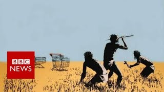 Banksy print stolen from Toronto exhibit by brazen thief - BBC News