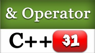 Address operator in C++ | & Operator | CPP Programming Video Tutorial