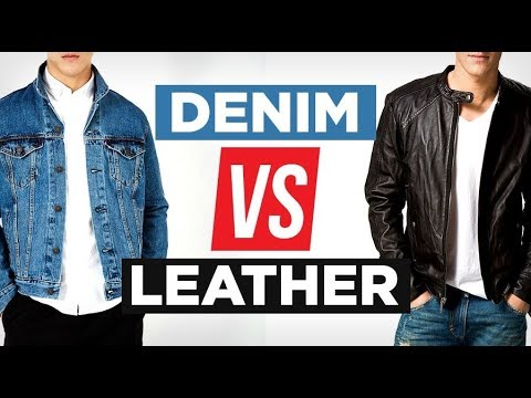 Xxx Mp4 Denim Vs Leather Which Is MORE Stylish Battle Of The Jackets 3gp Sex