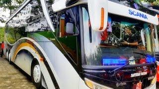 PELOPOR Bus SCANIA K410 Triple Axle di Indonesia | Satria Muda