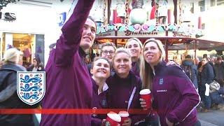 England Women team visit the German Christmas markets | FATV News