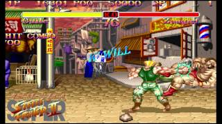 SSFII Super street fighter II Combos Collection 100% HD