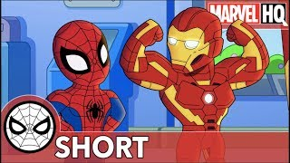 Spidey & Iron Man Clean Up Ultron | Marvel Super Hero Adventures: One Big Mess | SHORT