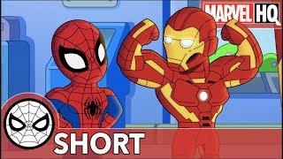 Spidey & Iron Man Clean Up Ultron | Marvel Super Hero Adventures: One Big Mess | SHORT