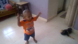 13 Month Baby boy dancing on Sairat Marathi Song. Zing zing Zingat .........