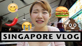SG VLOG : EATING WEIRD SINGAPORE LOCAL FOOD + GRWM w/ BAHASA INDONESIA SUBS
