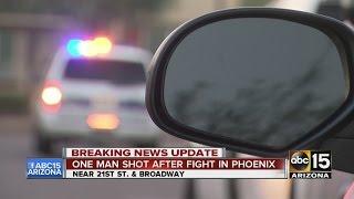 Man shot after fight in Phoenix