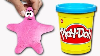 Spongebob Patrick playdo toys video - STOP MOTION fun with Play Doh by SC4K