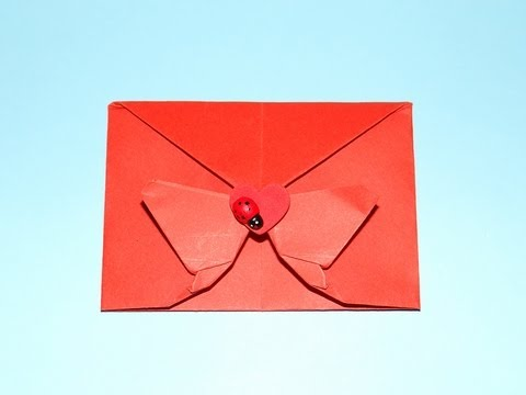 How To Make A Decorative Origami Butterfly Envelope - Valentine, Christmas and Birthdays