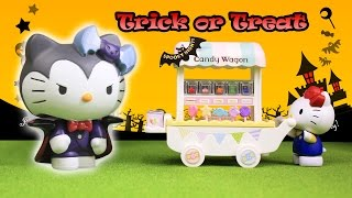 Hello Kitty Monster Toys Candy Wagon Halloween Stop Motion