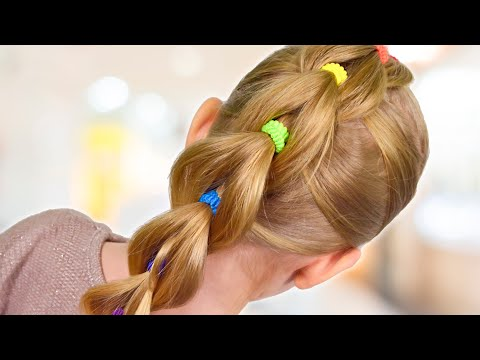 Xxx Mp4 VERY SIMPLE Pull Through Braid With Bright Elastics Quick And Easy Hairstyle 29 3gp Sex