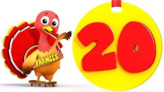 Learn to Count | One to Twenty | 1 - 20 | Kindergarten Learning Songs for Children by Farmees