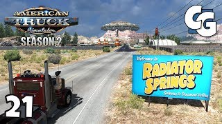 ATS S02E21 - Radiator Springs (Cars) - American Truck Simulator Let's Play