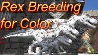 Ark Survival Evolved Breeding Rexes for Color!