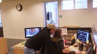 Ellen DeGeneres scares Jacqueline, Andy's assistant multiple times in a row!