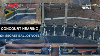 Constitutional Court hears secret ballot application by opposition parties, 15 May 2017