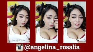 Gadisnesia - Angelina Rosalia Anggieta santai tiduran manja dikasur