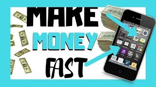 BEST WAY HOW TO MAKE QUICK MONEY ONLINE FREE FAST AND LEGIT WAY 2017 | Using Your Phone!