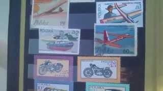 Kolekcja monet i znaczkow z lat dziecinstwa .