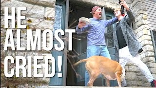 SON SURPRISES DAD ON THANKSGIVING! (Real Reaction)