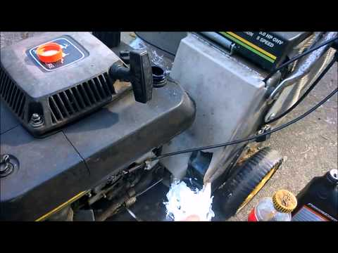 Redneck Oil Change & Maintenance John Deere SB14 Mower