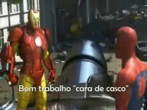 Homem Aranha Hulk e Homem de Ferro salvam o dia