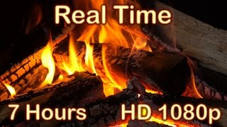 ✰ 7 HOURS ✰ Fireplace HD 1080p video ✰ REAL TIME ✰ Fireplace Burning ✰ Fire Sound ✰ Relaxing Fire