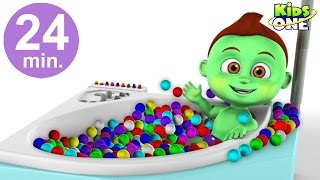 BABY HULK Ball Pit Show Funny Bath Time | Superhero Learn Colors with POP Balls for Kids
