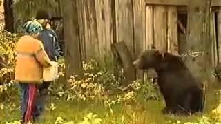 حمله خرس به انسان