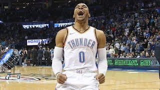 Russell Westbrook Trip Dbl vs Jazz! Thunder Snap 6 Game Win Streak! 2017-18 Season