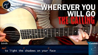 Como tocar Wherever You Will Go en Guitarra Acustica | Tutorial Completo Christianvib