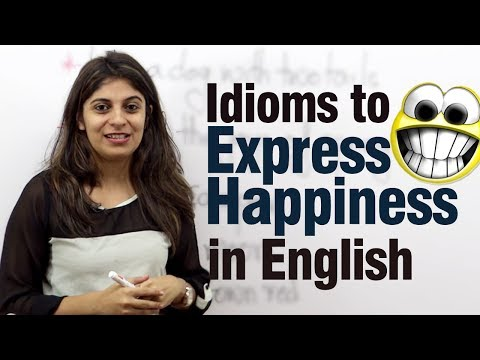 watch Idioms to express happiness in English -- Free Advance English lesson