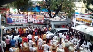 RAj Thackeray entry in vileparle